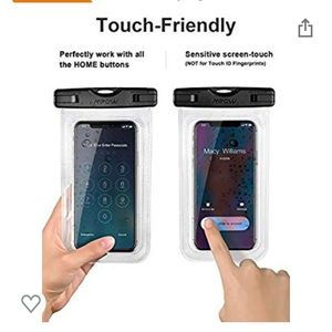 Universal waterproof pouch for cell phone